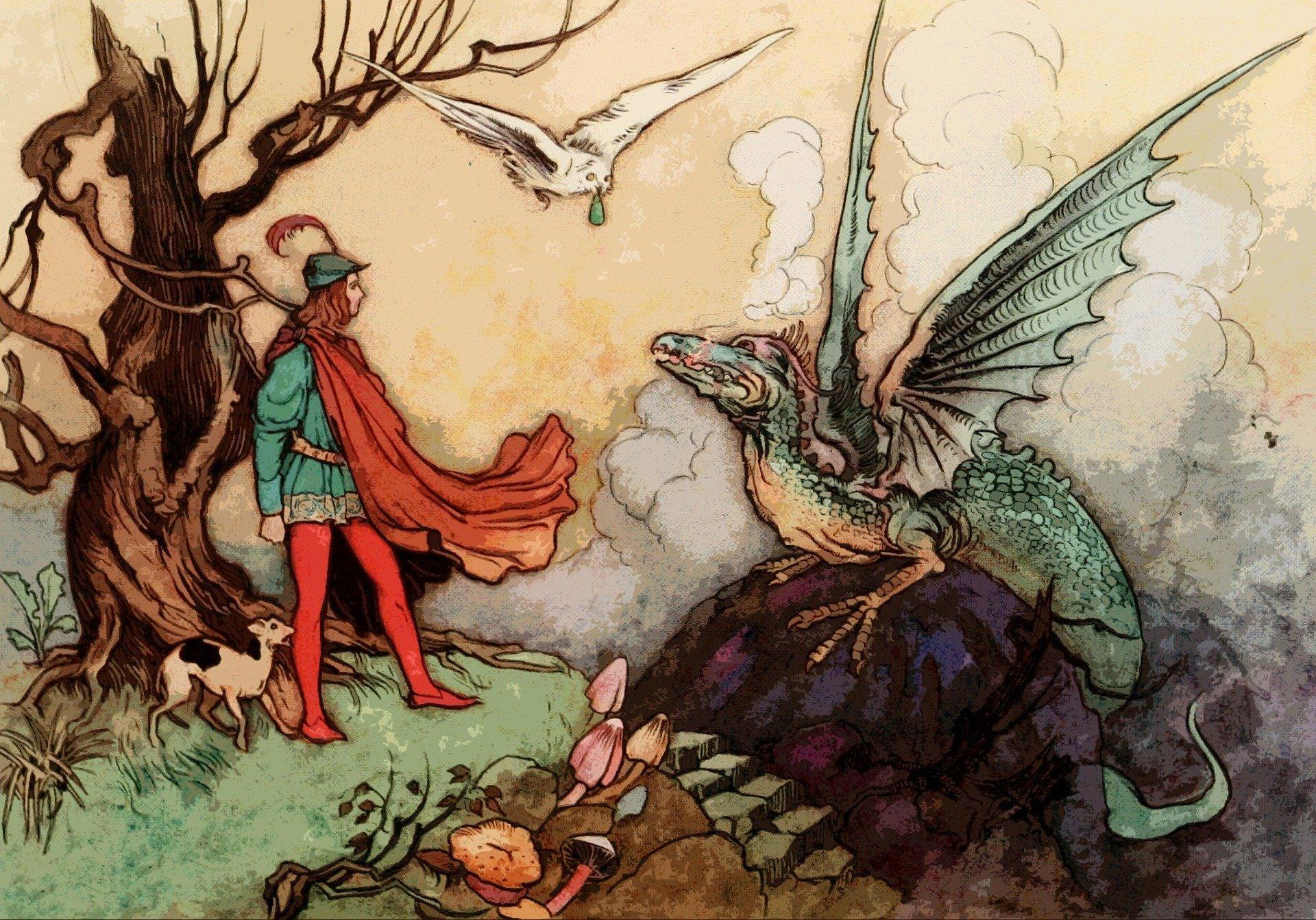 Patron de sorcier : dragon d'outremonde